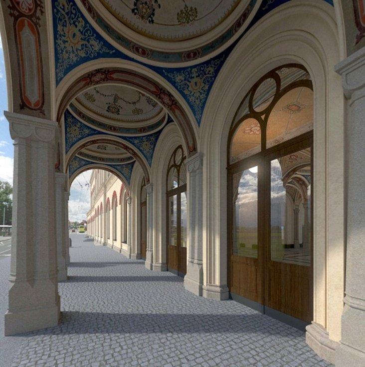 Vizualizace, jak by mohlo vypadat vlakové nádraží Teplice v Čechách po opravě.