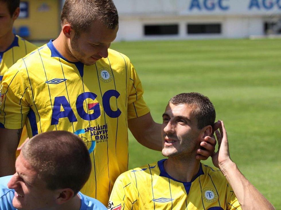 Focení FK Teplice - Vondrášek a Ljevakovič