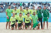 Plážoví fotbalisté Teplic (svítivé dresy) v Lize mistrů