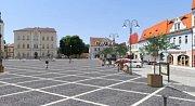 Mírové náměstí v Bílině - vizualizace přestavby.