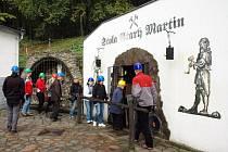 V rámci konference Rozvoj cestovního ruchu ve východním Krušnohoří se asi dvacítka cestovatelů z řad veřejnosti i novinářů podívala do štoly Starý Martin