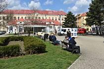 Benešovo náměstí v Teplicích. Ilustrační foto