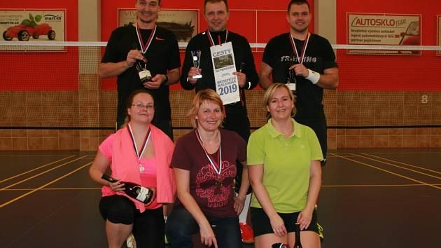 Vítězové turnaje v badmintonu Masarykovy nemocnice Ústí nad Labem.