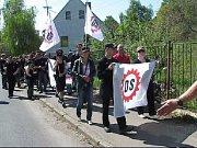 Pochod Dělnické strany Krupkou