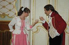 Prohlídka na duchcovském zámku.....s kostýmy a Divadlem M