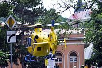 V Šanově zasahovali záchranáři s  vrtulníkem