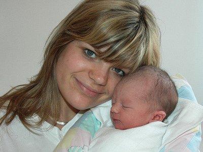Maminka Dominika Dvořáková se synem Dominikem Stuchlým