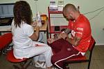 Tepličtí hráči se zapojili do dárcovství krve