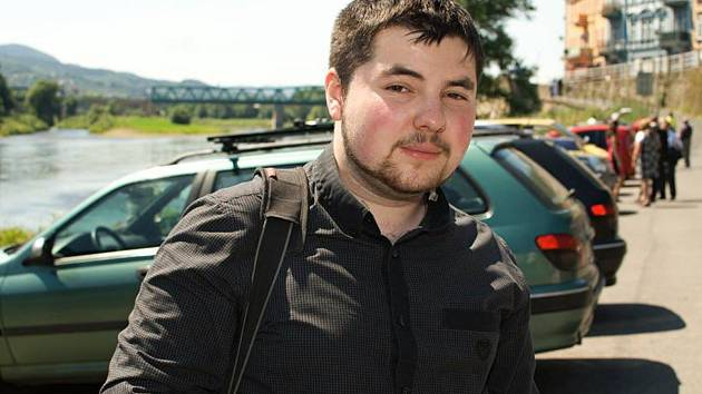 Marek Danč (24) z teplické záchranky.