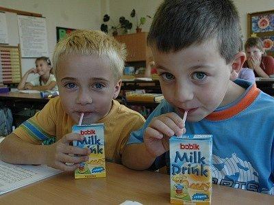 Mléko dětem chutná