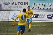 Ladislav Kodad se raduje ze svého druhého ligového gólu. Tentokrát se trefil do sítě Bohemians.