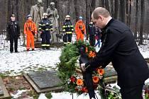 Pietní akt k uctění památka obětem katastrofy na dole Nelson III. v Oseku