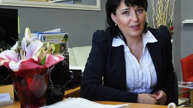 Starostka Hrobčic Jana Syslová.