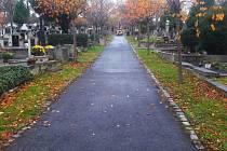 Hřbitov v Bílině.