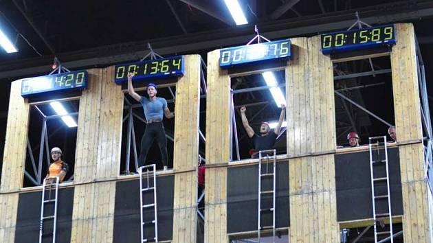 Jakub Pěkný se stal absolutním vítězem ve sportovní disciplíně výstup do čtvrtého patra cvičné věže.