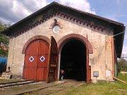 Železniční depo v Teplicích.