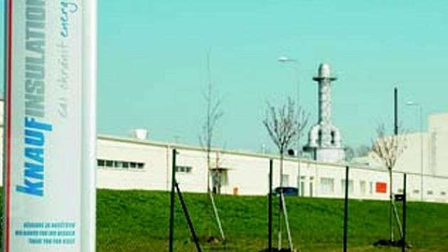 Továrna Knaufu v krupské průmyslové zóně.
