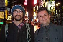 Dan Bárta s Robertem Balzarem v NY.