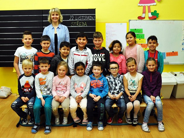 Na fotografii jsou žáci ze ZŠ Sochorova Duchcov, 1.B  třída paní učitelky Marty Sainerové.