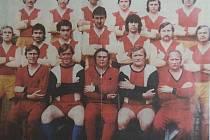 Jiskra Košťany po postupu do krajského přeboru v roce 1980.