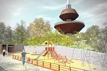 Kaskáda Teplice, vizuál možného vzhledu budoucího koupaliště v Teplicích.
