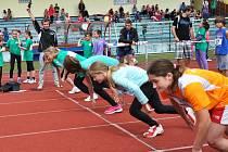 Děti bojují o olympijské medaile na stadionu v Krupce