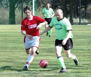 Fotbalové utkání mezi Sokolem Kladruby a teplickým AFK.