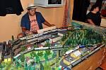 Na nádraží v Oseku bylo k vidění modelové kolejiště