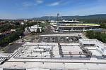 Lanový park najdete na střeše Kauflandu hned vedle stadionu FK Teplice.