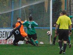 V posledním zápase podzimní části krajského přeboru porazil Baník Modlany Brnou 5:3.