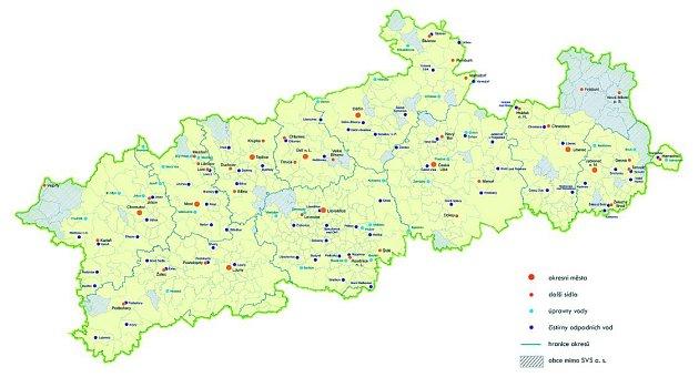 Mapa pokrytí SVS, a. s.