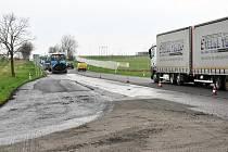 Část úseku silnice Srbice – Soběchleby dostátá nový asfalt