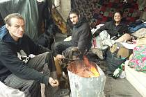 Bezdomovci v Teplicích.