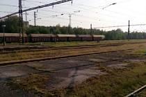 Kolejiště v Oldřichově u Duchcova.