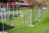 Vedle workoutového hřiště na Kyselce roste plocha pro děti.