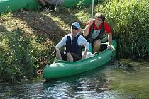 Vodáci uzamkli řeku Bílinu