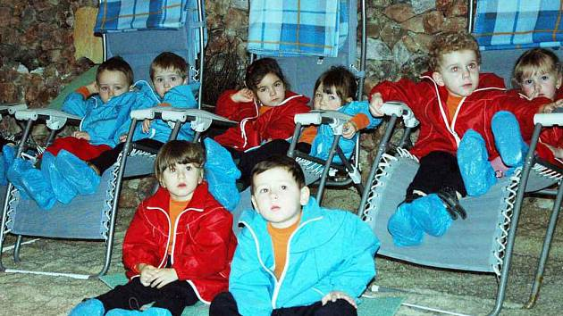 Děti v solné jeskyni