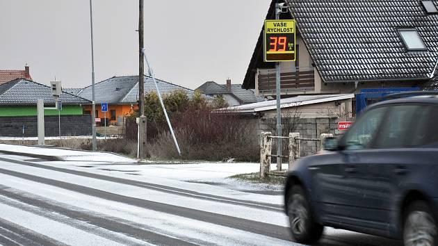 Nové radary instalované na jezdech do města Duchcov.