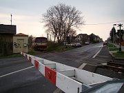 Trať 097 Teplice - Lovosice. Přejezd v Bystřanech