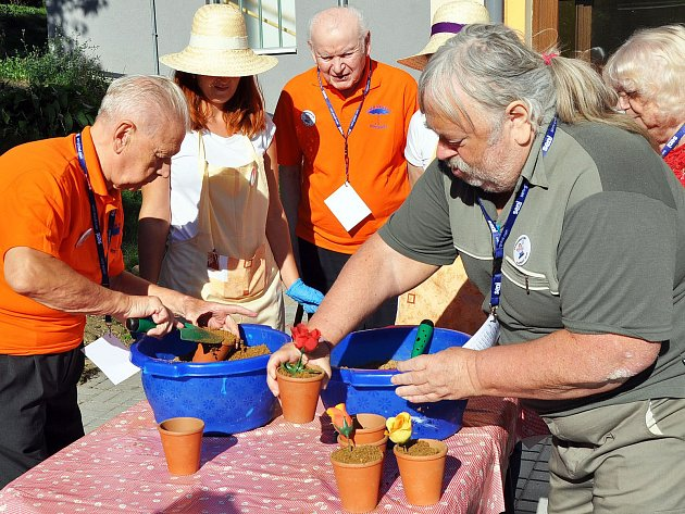 Farmářské hry pro seniory v Bystřanech
