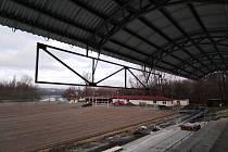 Nová tribuna na stadionu FK Slavoj Žatec.