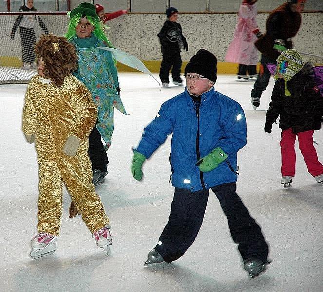 Masarykova základní a mateřská škola z Krupky - Unčín na ledě teplického stadionu 13. ročník bruslařského výcviku