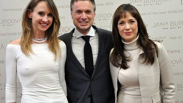 Jana Burdová, David Hora a Tereza Kostková