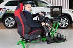 Trenažér řízení ručního vozu, který je jediným svého druhu v České republice, bude veřejnosti k dispozici v obchodním centru Galerie Teplice.