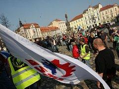 Protestní shromáždění DSSS v Duchcově 29.3. 2014