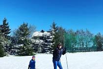 Sníh na Cínovci.