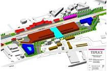 Studie teplického vlakového nádraží