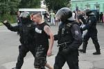 Demonstranti v Duchcově, 22. 6. 2013