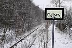 Kozí dráha - oblast Teplicko, nádraží Unčín