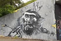 Graffiti v teplických ulicích.